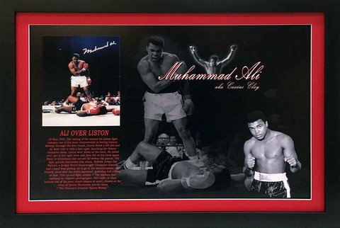 """Ali Over Liston"", Hand Signed as Muhammad Ali, Framed, Ltd Edition"
