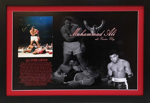 """Ali Over Liston"", Colour, Hand Signed as Cassius Clay"