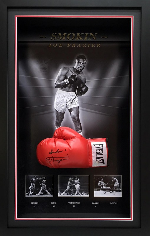 Smokin' Joe Frazier Hand Signed Everlast Boxing Glove