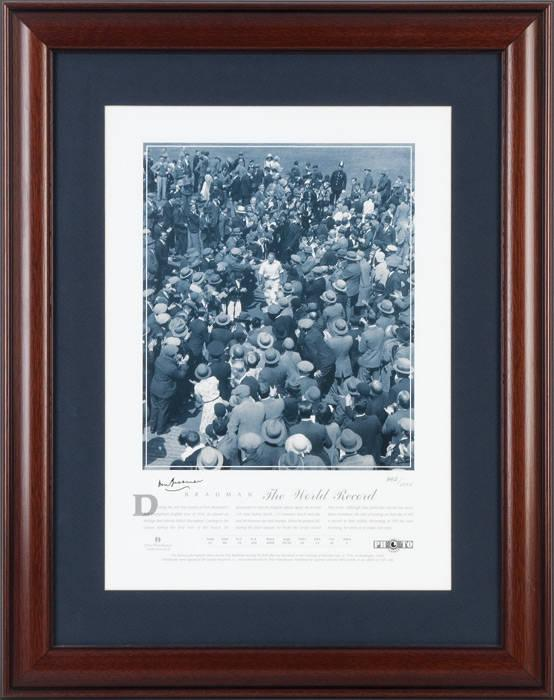 "Sir Donald Bradman Hand Signed ""The World Record"", Licensed Cricket Australia Product"