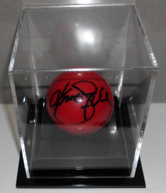 Kumar Sangakarra, Sri Lankan Legend, Hand Signed Replica Ball in Display Case