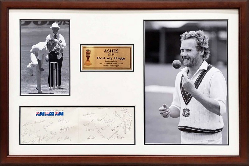 """Hoggy's Summer"" - Hand Signed by Both Australian and English Ashes Teams, Framed"