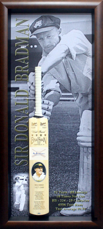Sir Donald Bradman personally signed bat