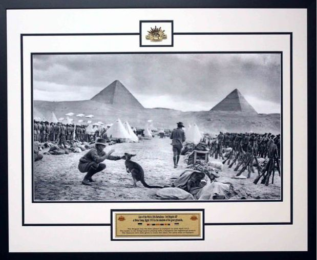 "100th Year Anniversary "" Call to Arms "" ANZAC Photo Framed"