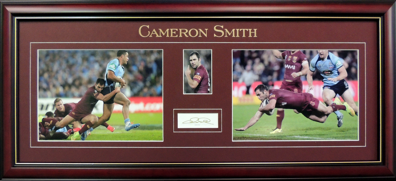 Cameron Smith - Qld Origin Photo Series, Personally Signed, Framed