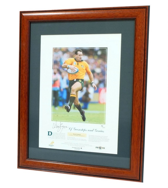 "David Campese ""Of Goosesteps and Genius"" Personally Signed Lithograph, Framed"