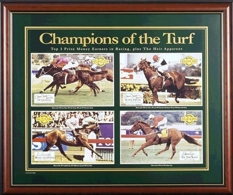 Champions of the Turf - Octagonal, Super Impose, Might and Power, Tie the Knot, Personally signed by Beadman, Cassidy, and Dye