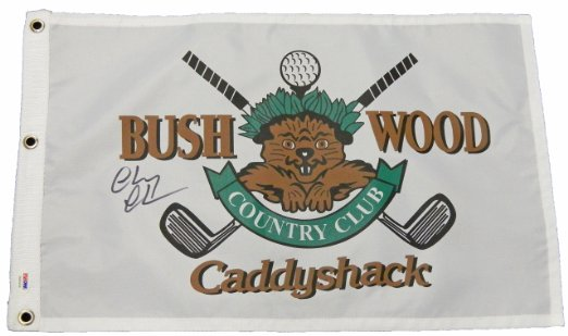 "Caddyshack - Chevy Chase Hand-Signed ""Bushwood Country Club"" Flag"