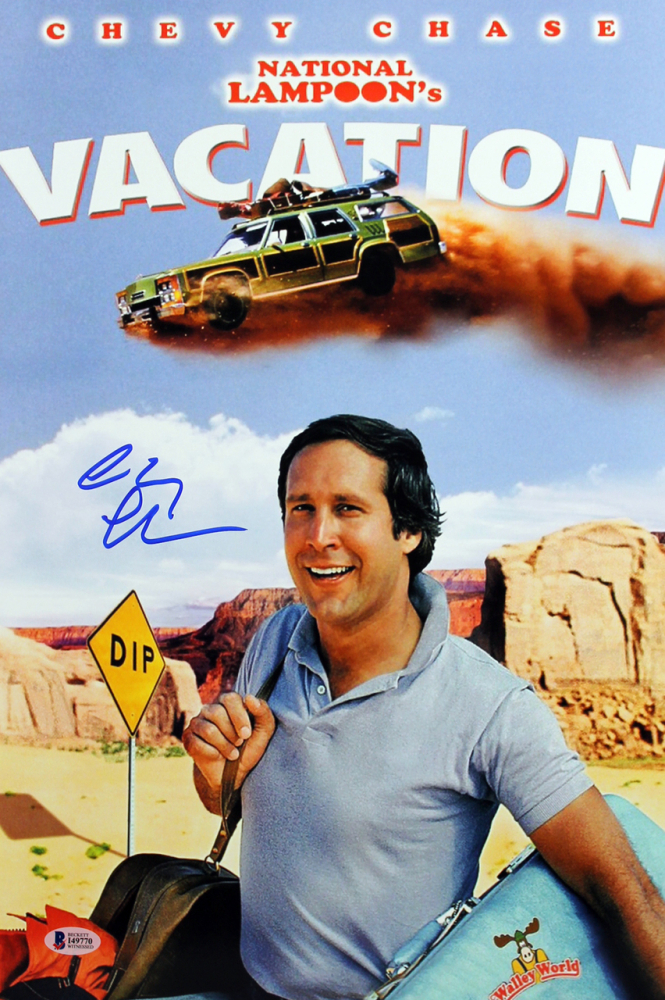 "Chevy Chase Personally Signed ""National Lampoon's Vacation"" Movie Poster"