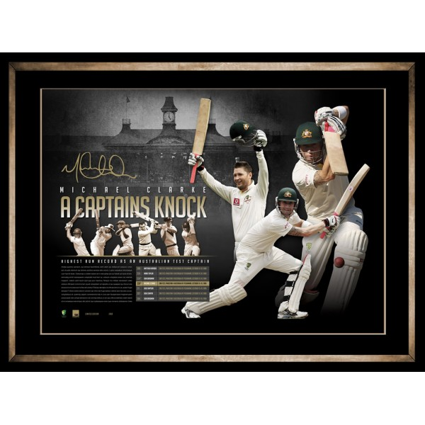 "Michael Clarke Personally Signed ""A Captain's Knock"