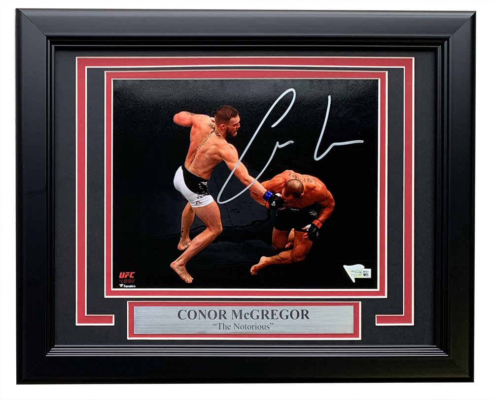 "Conor McGregor Personally Signed ""The Notorious V1"", Framed"