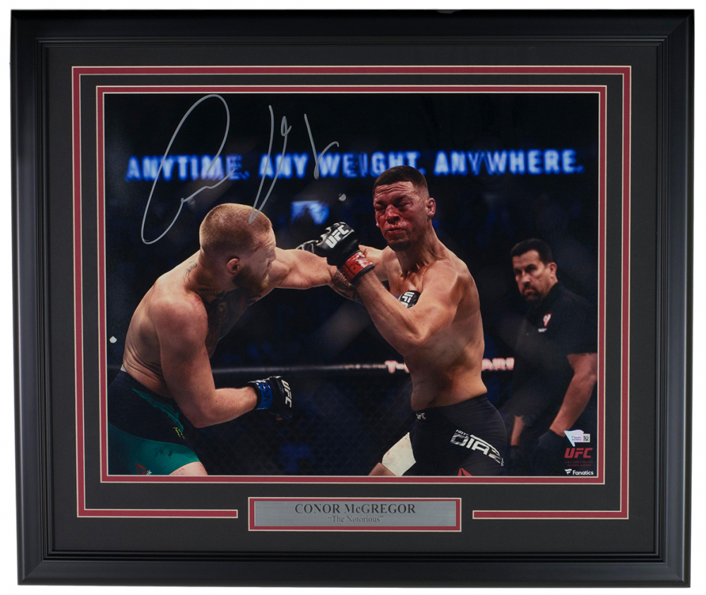 "Conor McGregor Personally Signed ""The Notorious V3"", Framed"