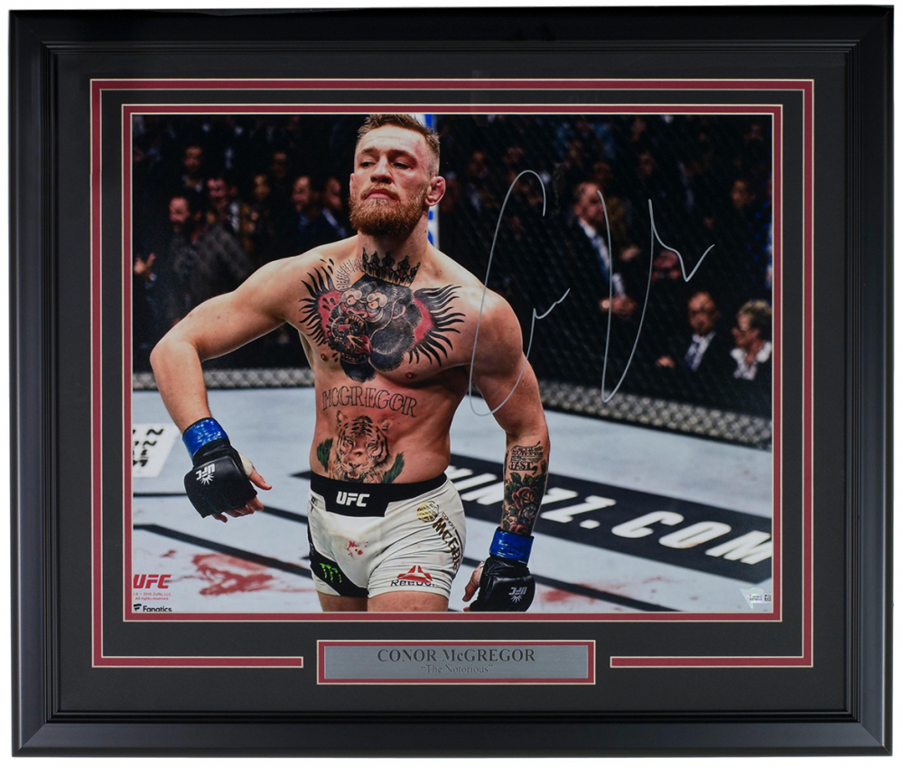 "Conor McGregor Personally Signed ""The Notorious V4"", Framed"