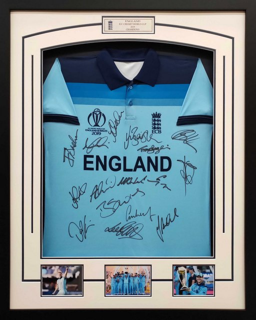 England 2019 ICC World Cup Champions Team Signed Shirt - Morgan, Bairstow, Root