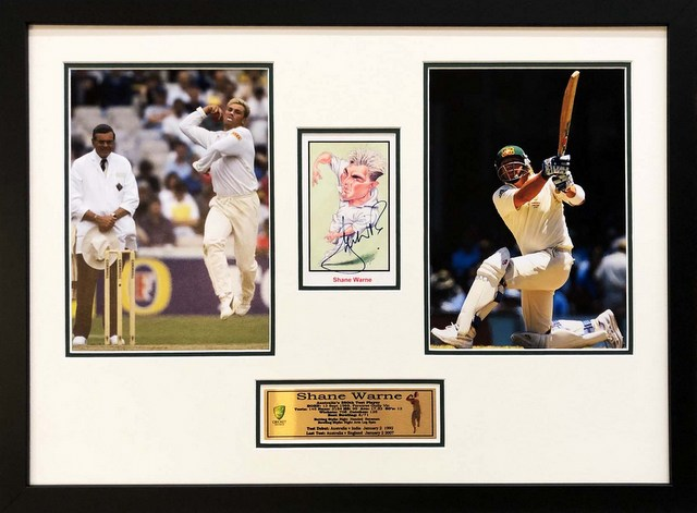 "Shane Warne ""Legends Series"" Personally Signed, Framed"