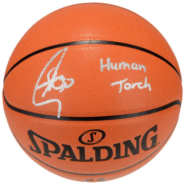 "STEPHEN CURRY GOLDEN STATE WARRIORS AUTOGRAPHED INDOOR/OUTDOOR BASKETBALL WITH ""HUMAN TORCH"" INSCRIPTION FANATICS"
