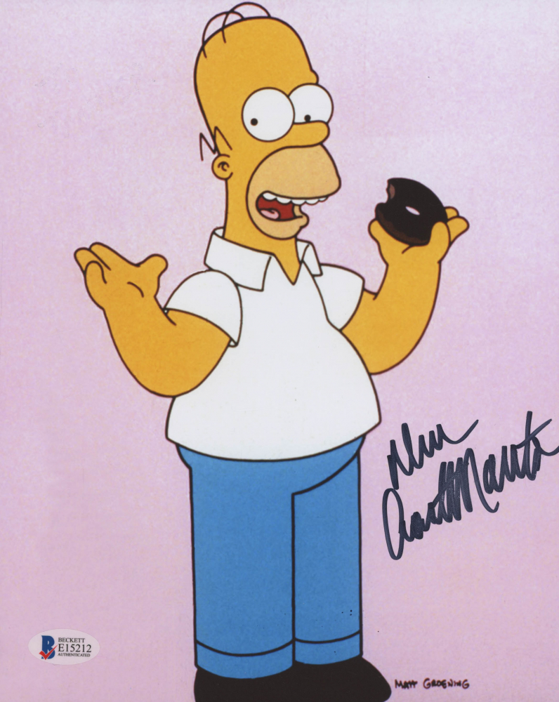 "Dan Castellaneta, Homer Simpson, Hand Signed ""The Simpsons"" Photo (Beckett COA)"