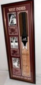 3 Knights of West Indies Cricket Personally Signed Bat - Sirs Viv Richards, Gary Sobers, and Everton Weekes