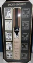 5 Knights of Cricket Personally Signed Bat - Richards, Botham, Hadlee, Weekes, Sobers