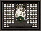 'The Highest Office' Signed by 19 Australian Test Captains with Replica Baggy Green, Framed