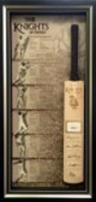 6 Knights of Cricket Bat - Bradman, Botham, Richards, Hadlee, Sobers, Weekes - Personally Signed, Framed - NEW RELEASE!