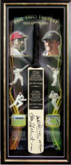 """Gilly and Viv"" - Cricket's Fastest Test Centuries, Personally Signed, Framed"