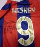 Emile Heskey Personally Signed Newcastle Jets A League Shirt