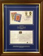 Sir Donald Bradman Personally Signed 1997 First Day Cover, Postmarked at The Bradman Museum, Framed