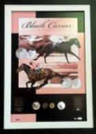Black Caviar 'Perfection' Coin Collection, Framed