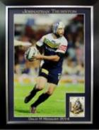 Johnathan Thurston, North Queensland Cowboys, Three Time Winner, Dally M Medal, Personally Signed, Framed - FREE DELIVERY!