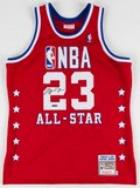 Michael Jordan Personally Signed 1989 All Star M&N Authentic Jersey UDA