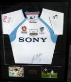 Sung Hwan Byan Match Worn Sydney FC Grand Final Shirt, Signed and Framed