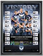 2015 Hyundai A-League Champions Team Signed Lithograph, Melbourne Victory, Framed