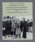 "1948 Invincibles ""Arriving"" Photo Personally Signed by 6 Including Bradman, Miller, Brown and Morris, Framed"