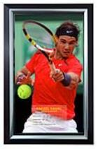 Rafa Nadal Signed Action Image and Tennis Ball, Framed
