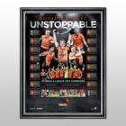 Brisbane Roar FC  2014 A League Champions Team-Signed Lithograph, Framed - FREE DELIVERY!