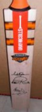 3 Knights of Cricket Personally Signed Bat - Viv Richards, Ian Botham, Richard Hadlee