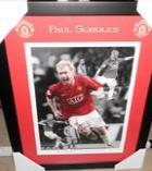 Manchester United Paul Scholes Signed Champions League Lithograph