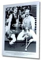 "Steve Davis and Dennis Taylor Personally Signed ""Snooker Champions"" Lithograph"