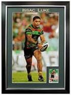 "Issac Luke South Sydney Rabbitohs Personally Signed ""2014 Card Series"", Framed"