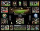 NRL Premiers 2014 - South Sydney Rabbitohs - Grand Final Montage, Framed, with Personally Signed Bonus Piece!