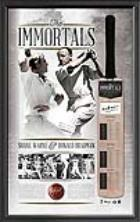 The Immortals - Shane Warne and Sir Donald Bradman Signed Cricket Bat, Framed - FREE SHIPPING