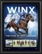 "Winx - ""The Mare Beyond Compare"" - Framed Sportsprint with Replica Signatures"