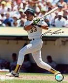Jose Canseco signed A's photograph