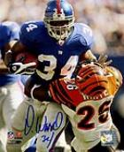 Derrick Ward signed NYG photograph