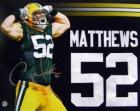 Clay Matthews signed Green Bay Packers photograph