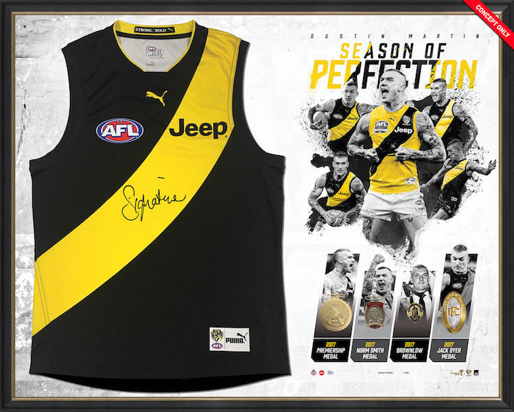 Dustin Martin 2017 Season Of Perfection Guernsey Signed & Framed Official AFL