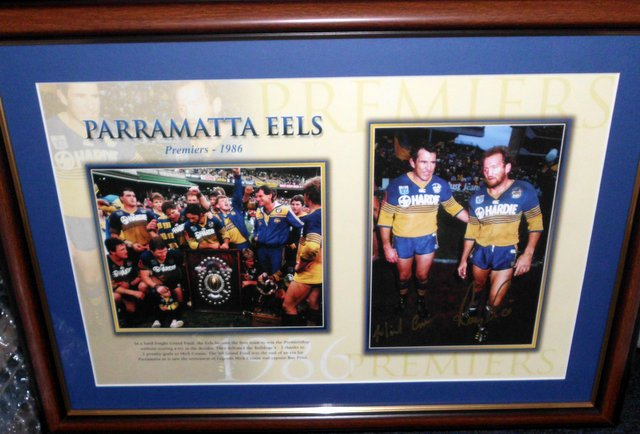 1986 Parramatta Eels signed by Mick Cronin and Ray Price