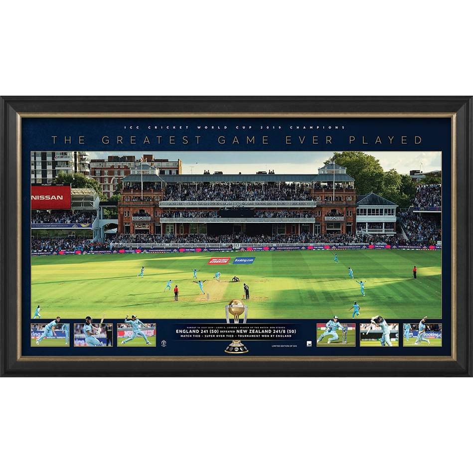England ICC 2019 Cricket World Champions Panoramic Tribute Print