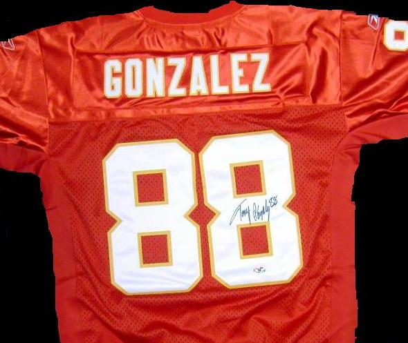Tony Gonzalez signed Kansas City Chiefs jersey